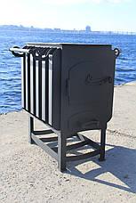 """Печка буржуйка """"Кормилица"""" с конвекцией+ вторичный дожиг печных газов, сталь 4мм, фото 3"""