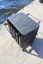 """Буржуйка """"Кормилица"""" с конвекцией+ вторичный дожиг печных газов, сталь 4мм, фото 2"""