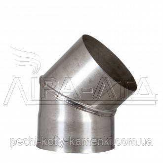 Колено 45 нержавейка 0,5 мм AISI 304, фото 2