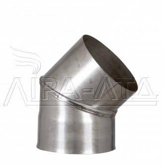 Коліно 45 неіржавіюча сталь 0,8 мм AISI 304, фото 2