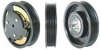 Шкив компрессора кондиционера в сборе DELPHI (GM, Opel) 105mm/5pk 12V
