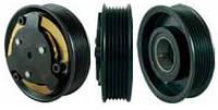 Шкив компрессора кондиционера в сборе DELPHI CVC (Opel) 105mm/6pk 12V