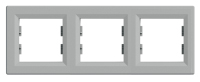 Рамка трехкратная алюминий ASFORA Schneider electric EPH5800361