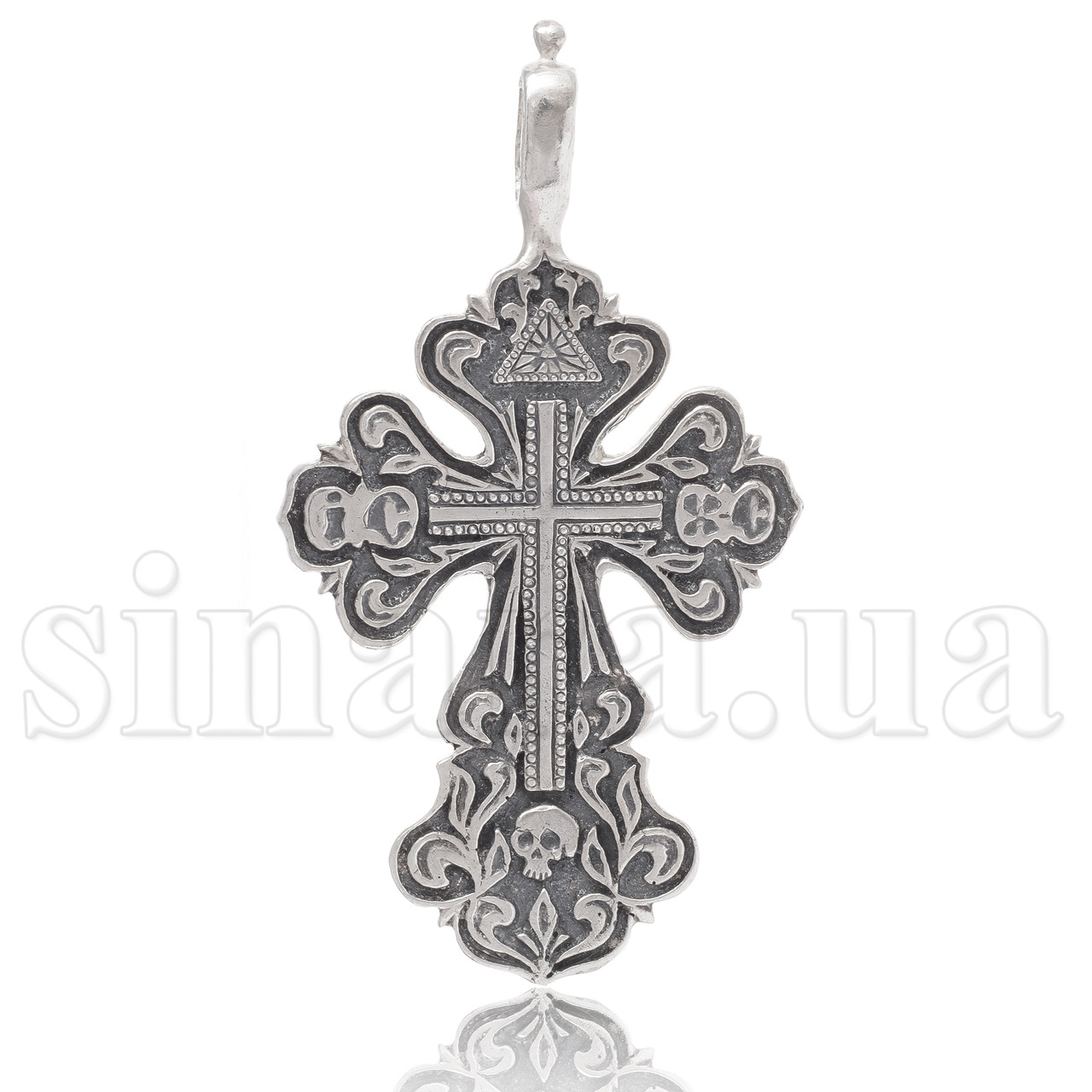Серебряный большой ажурный Крест 804