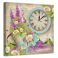 Часы на холсте 53 х 53 см D-4