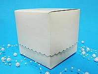 Бонбоньерка коробочка белая 100х100х100