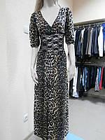 Платье длинное леопардовый принт