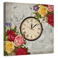 Часы на холсте 53 х 53 см D-10