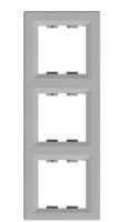 Рамка трехкратная вертикальная алюминий ASFORA Schneider electric EPH5810361