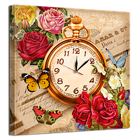 Часы на холсте 53 х53 см