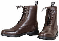 Ботинки мужские, кожаные, на шнурках