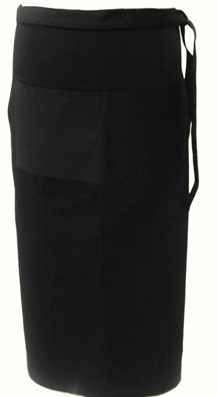 Фартук для официанта, бармена, поварской классический черный 75 см Atteks - 00306