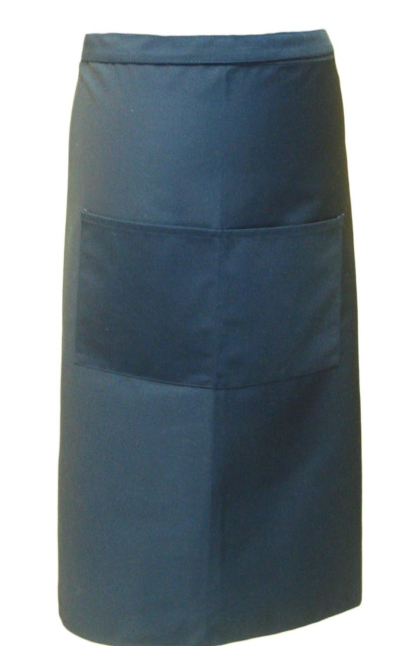 Фартук для официанта, бармена, поварской классический темно синий 75 см Atteks - 00311