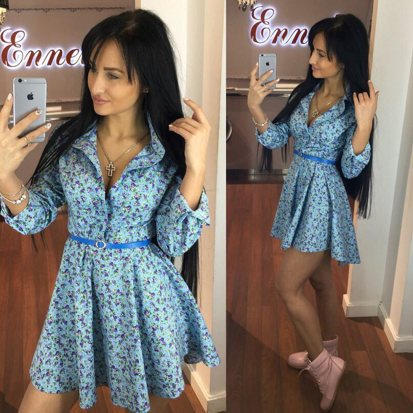 Женское короткое платье купить в