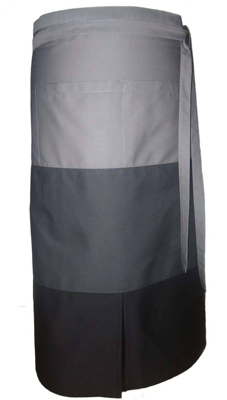 Фартук для официанта, бармена, поварской классический 75 см трехцветный Atteks - 00307