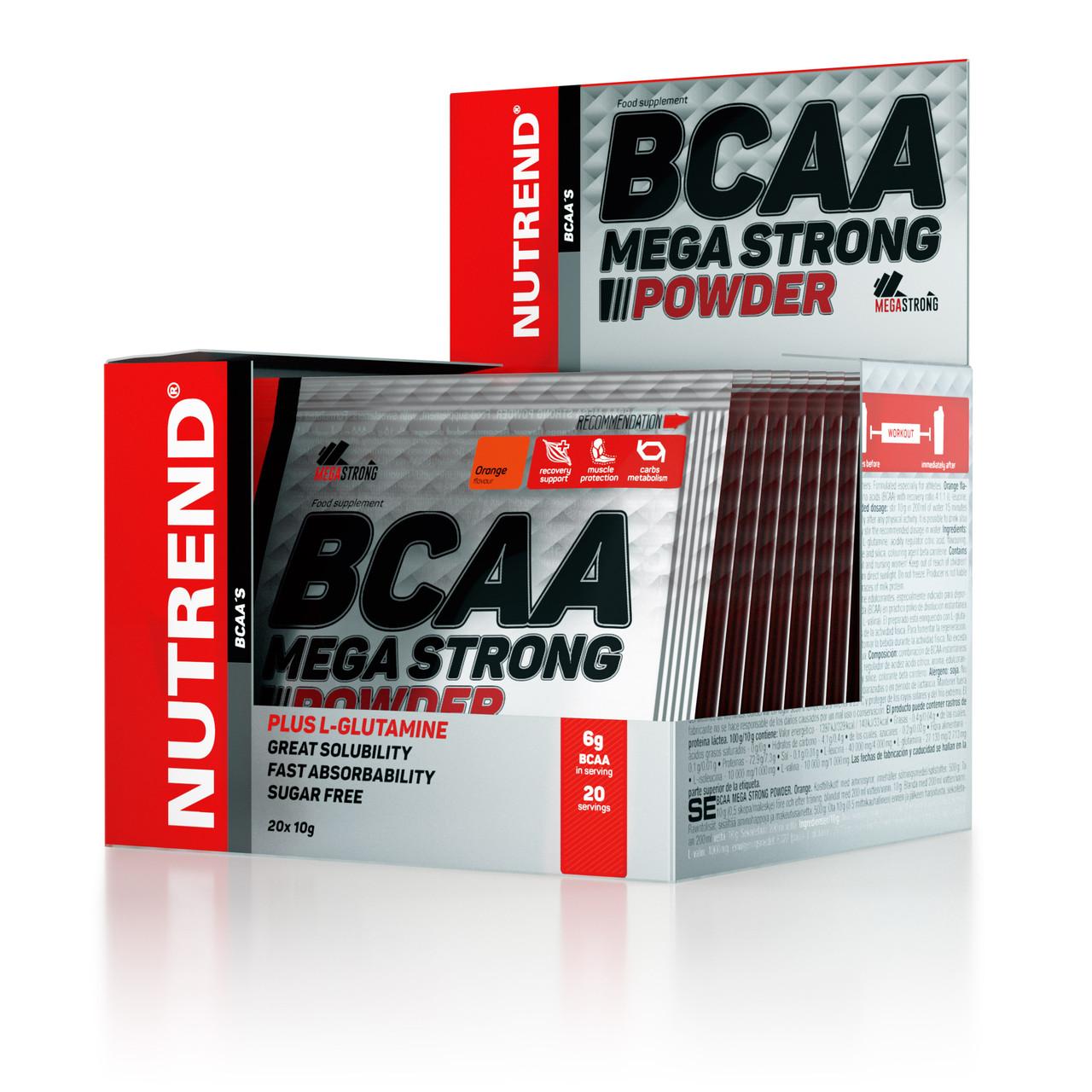 Аминокислоты BCAA Nutrend BCAA mega strong powder 10g