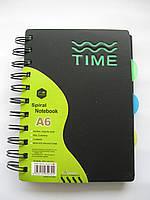 Блокнот А6  для записей в линию обл.пластик