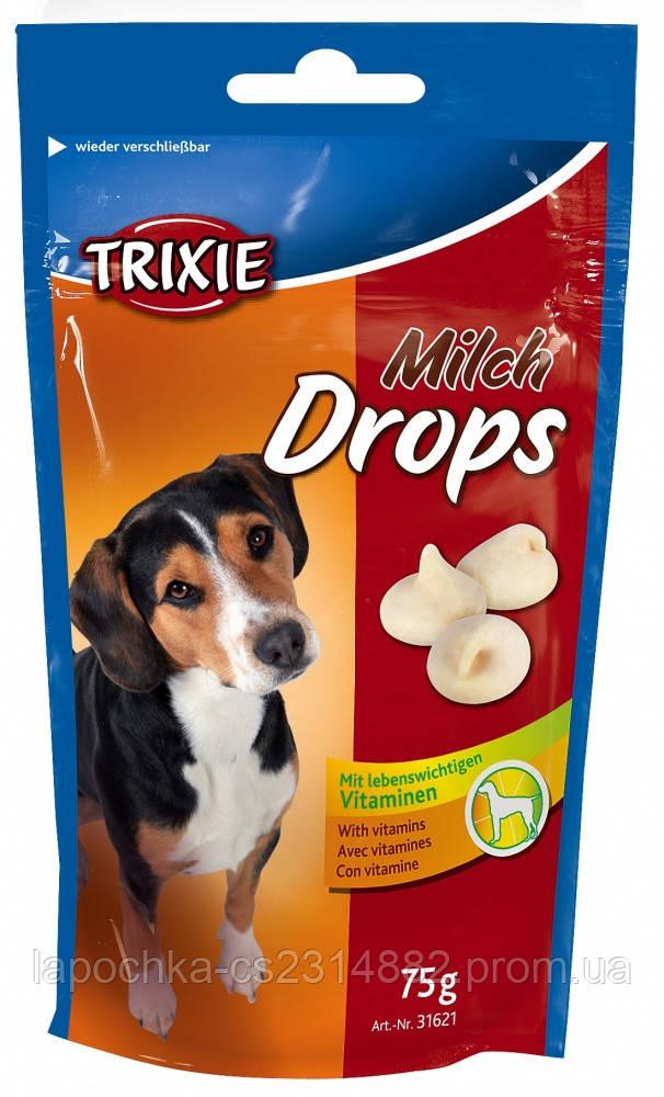 Лакомство для собак Trixie Milk Drops молочные, 75 г