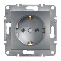Розетка с заземлением сталь ASFORA EPH2900162