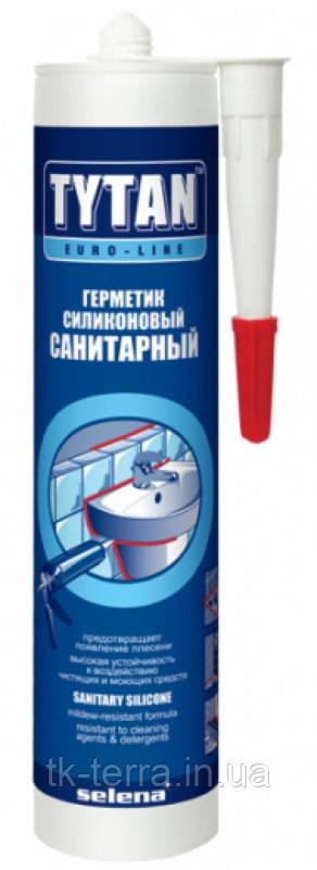 Силикон TYTAN Euroline санитарный (белый/прозрачный) 290 мл