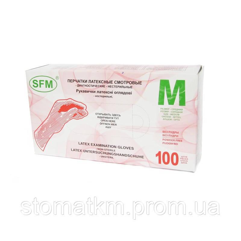 Перчатки латексные SFM 50пар M NaviStom