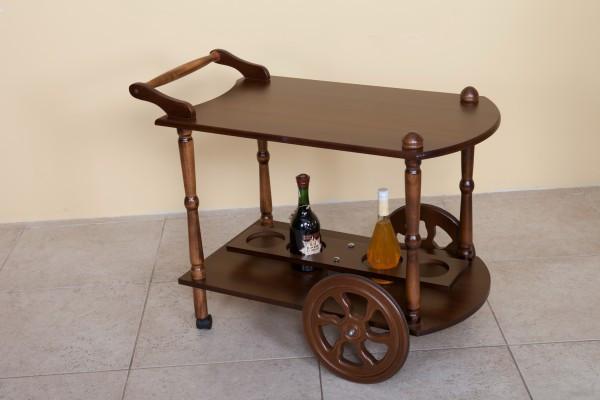 Сервировочный стол на колесиках Кемри Модуль Люкс, темный орех