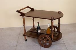 Сервірувальний стіл на коліщатках Кемрі Модуль Люкс, темний горіх