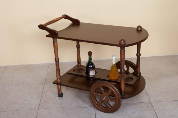 Сервировочный стол на колесиках Кемри Модуль Люкс, темный орех, фото 2