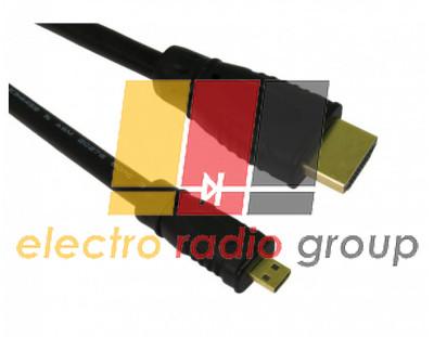 Кабель HDMI (папа) A-D micro (папа), 1.5m, синяя оплетка пакет 1115