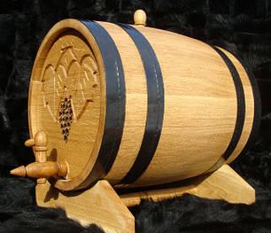 Дубовые бочки для вина и коньяка (черный металл)