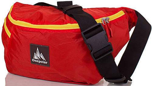 Оригинальная женская сумка на пояс 12 л. ONEPOLAR (ВАНПОЛАР) W5271-orange оранжевый