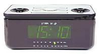 Радиоприемник-часы Happy Sheep YJ-811, часы настольные с радио, цифровой радиоприемник, часы электронные