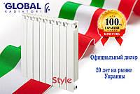 Биметаллический радиатор Global Style 350/80 (Италия), фото 1