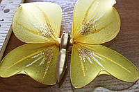 Бабочка для штор желтого цвета