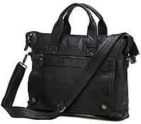 Классическая мужская черна сумка Jasper & Maine 7120A