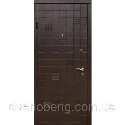 Входная дверь модель П2-КУБИКИ СКОЛ ДУБА ЧЕРНЫЙ, фото 2