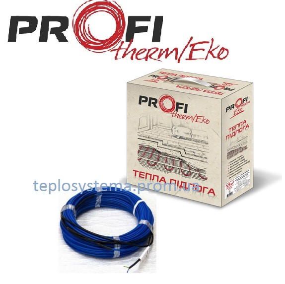 Тонкий двухжильный нагревательный кабель PROFI THERM Eko FLEX 220 Вт 1,5 м2, (Украина)