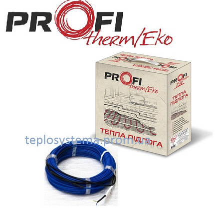 Тонкий двухжильный нагревательный кабель PROFI THERM Eko FLEX 220 Вт 1,5 м2, (Украина) , фото 2