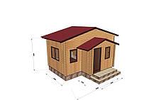 Проектирование и строительство саун, бань из профилированного бруса с верандой 6х4, фото 1