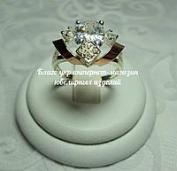 Серебряное кольцо 925 пробы с накладками золота 375 пробы, фото 1
