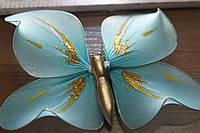 Бабочка для  штор голубого цвета