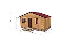 Строительство бани деревянной из профилированного бруса 6х4, фото 1