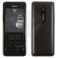 Корпус для Nokia Asha 206, черный, оригинал