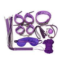 Набор садо-мазо BDSM взрослые игры фиолетовый