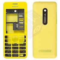 Корпус для Nokia Asha 206, желтый, оригинал