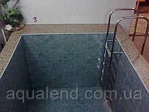 Сходи для басейну з нержавіючої сталі за індивідуальним замовленням, фото 2