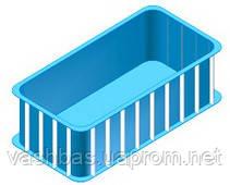 Стационарный полипропиленовый бассейн 3,0х1,5x1,6 м