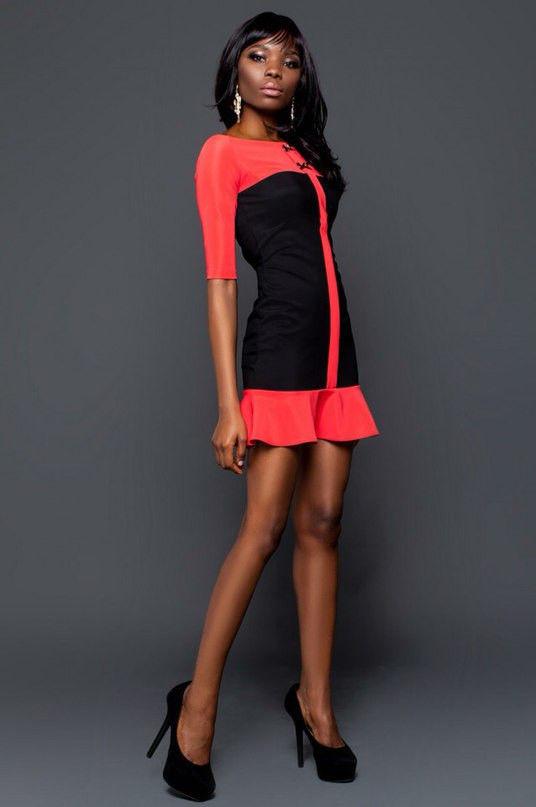 Платье молодежное комбинированное