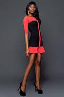 Платье молодежное комбинированное, фото 1