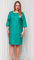 Батальное женское платье стильного мятного цвета